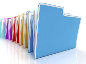 graphic - files folders colorful