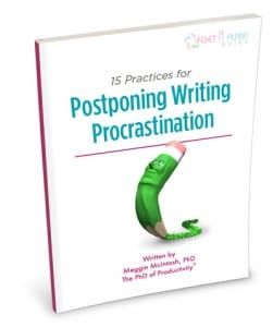 Postponing Writing Procrastination - Perspective Scaled