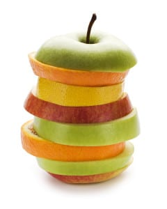 graphic - stacked fruit apple