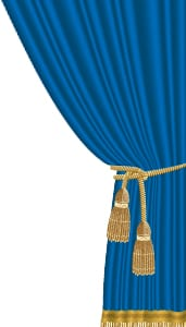 graphic-drama-blue-curtain-pulled-back-by-gold-tassels
