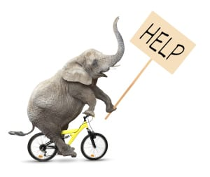 graphic - elephant help sign